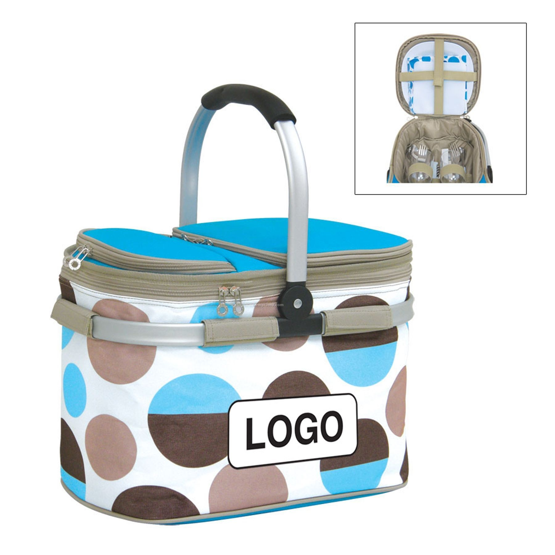 2 Person Insulated Picnic Basket