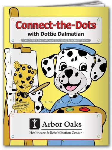 Action Pack Book W/Crayons & Sleeve- Connect-the-dots With Dottie Dalmatian