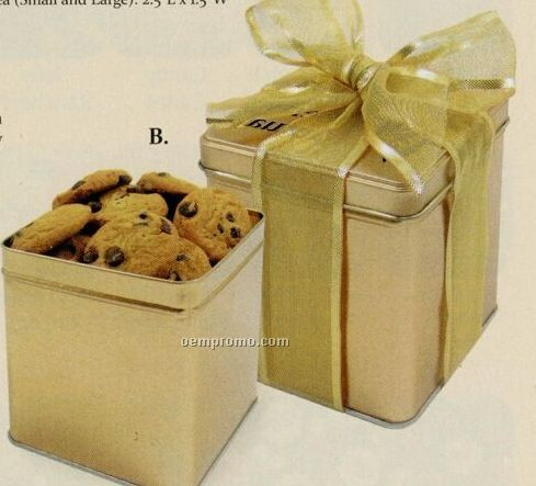 Chocolate Chip Mini Cookies In The Perfect Present Tin