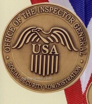 """Die Struck 10 Gauge Solid Bronze Coin / Medallion (1-1/4"""")"""