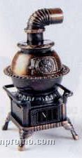 Early American Bronze Metal Pencil Sharpener - Pot Belly Stove
