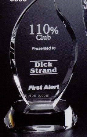 "Pristine Gallery Crystal Flame Award (7"")"