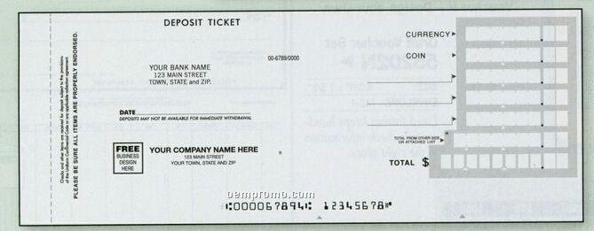 Quick Entry Deposit Ticket Book (2 Part)