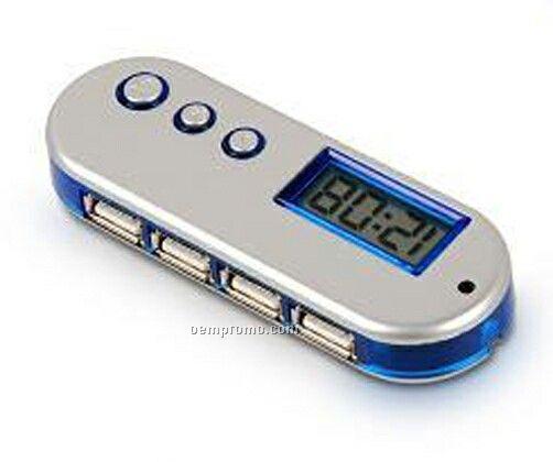 USB 4-port Hub W/ Alarm Clock