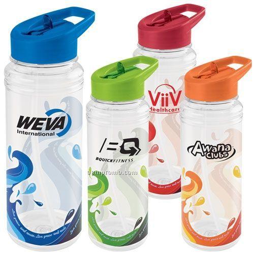 25 Oz. Clear Wave Water Bottle