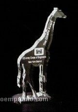 Acrylic Paperweight Up To 16 Square Inches / Giraffe
