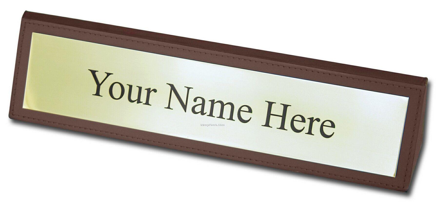 Name Plate: Custom Flexibrass Laser Engraved Plate (14.01