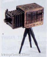Early American Bronze Metal Pencil Sharpener - Bellows Tripod Camera