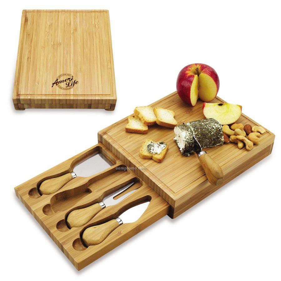 Edam Bamboo Cheese Board Set