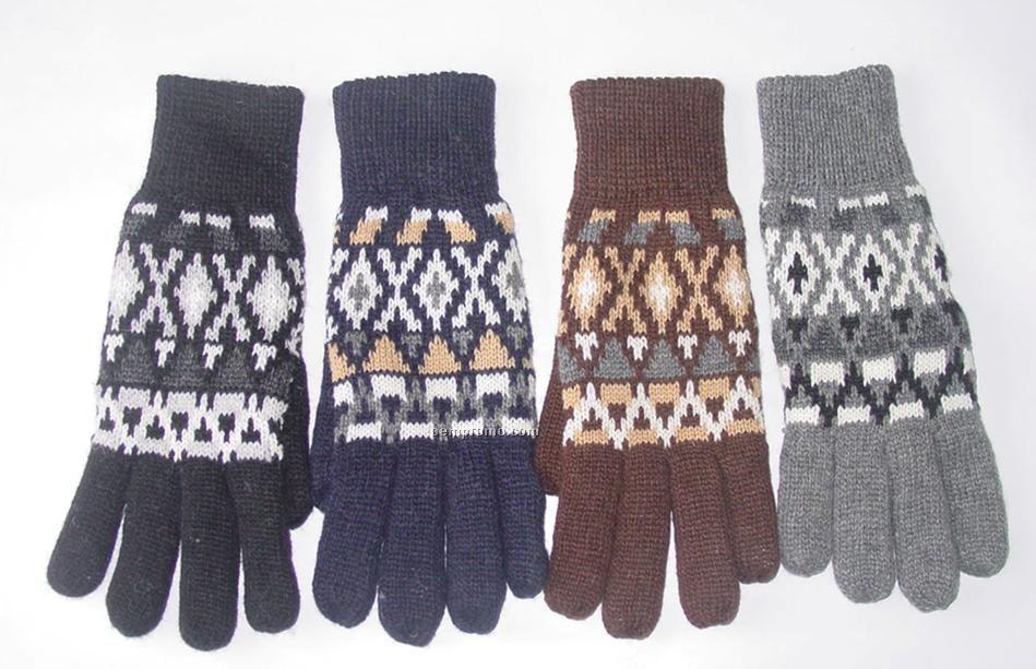 Men's Five Fingers Double Gloves