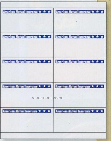 """Rectangular Custom Laser Label Sheet W/ 4 Sheet / 4""""X5"""""""
