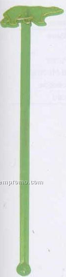 """7"""" Stock Bear Stirrer W/ 1 Color Tipping Imprint"""