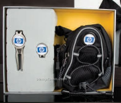 Custom Golf Gift Set With Mini Day Pack/ Cool Tool & Cap Clip