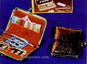 Gold Tone Pvc Sewing Kit Gift Box