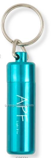 """Large Aluminum Canister Key Chain (2 3/8""""X2/3"""")"""