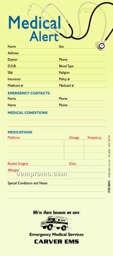 Medical Alert Post Up Sticker