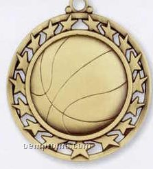 Star Border Medallions - Basketball