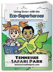 Action Pack Coloring Book W/Crayons - Living Green With The Eco-superheroes
