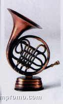 Bronze Metal Pencil Sharpener - French Horn
