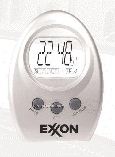 Mini Desktop Alarm Clock W/ Transparent Display