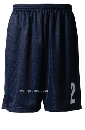 """N5296 Lined Tricot Mesh Adult Performance Shorts 9"""""""