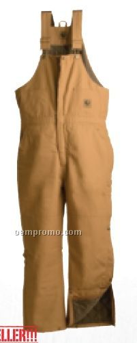 Navy Twill Deluxe Insulated Bib Overall / Zip To Waist (S-6xl)