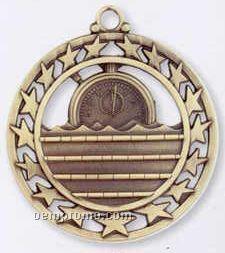 Star Border Medallions - Swimming