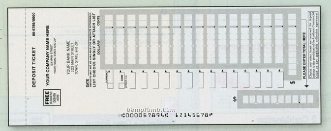 Easy Scan Deposit Ticket Book