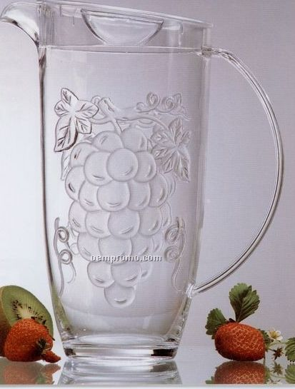 Jubilee 2 Qt. Pitcher With Embossed Grapes In Color Box