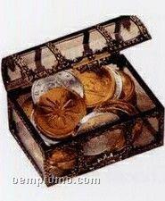30 Piece 100% Belgian Chocolate Coins With Custom Treasure Chest Box