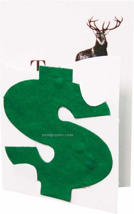 Floral Seed Paper Pop-out Booklet - Dollar Sign