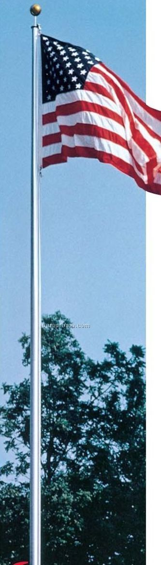 Large Cone-tapered Outdoor 20' Aluminum Flagpole (Style Adh-20)