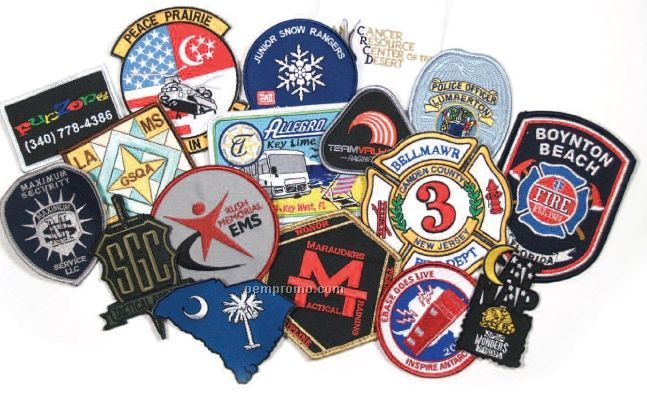 """Patches With 100% Embroidery (3"""")"""
