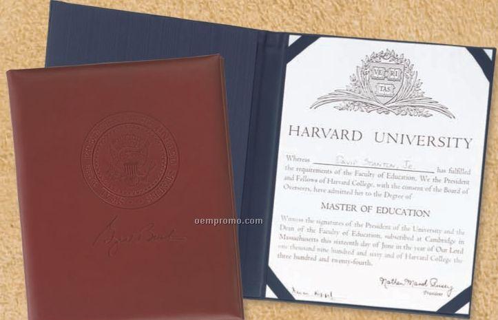 Top Grain Leather Certificate Holder - Domestic