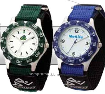 Watch Creations/ Unisex Sport Watch W/ Colored Nylon Strap & Colored Bezel