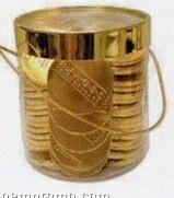 70 Piece 100% Belgian Chocolate Coins With Custom Casino Chip Drum Box