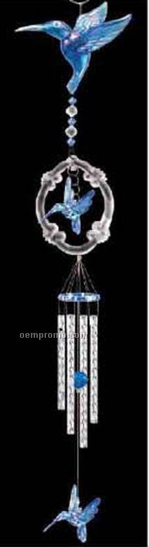 Blue Pearl Hummingbird Wind Chime