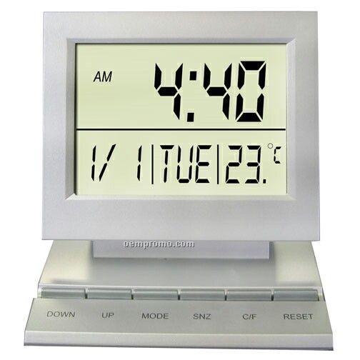 Desktop Multi-function Alarm Clock With Day / Date / Temperature
