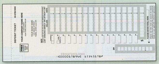 Easy Scan Deposit Ticket Book (3 Part)
