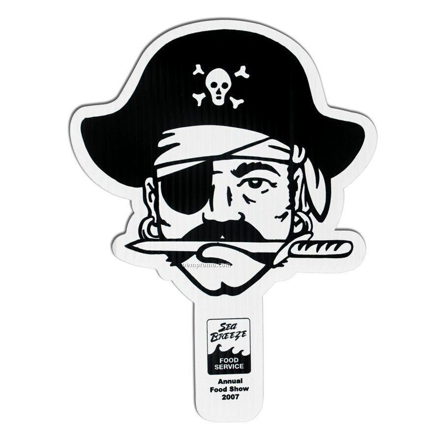 "Standard 8""X12"" Hand Fan - Pirate"