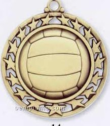 Star Border Medallions - Volleyball