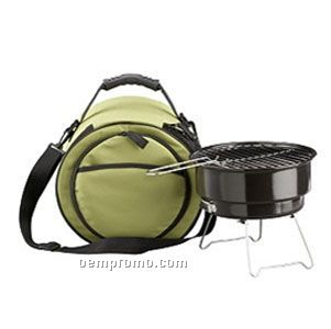 Black Mini Grill With Cool Bag