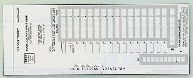 Easy Scan Deposit Ticket Book (4 Part)