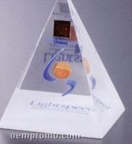 "4 Sided Pyramid Award (3""X3""X2 1/4"")"