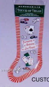 """8"""" Custom Flexographic Printed Holiday Stocking (3 Colors)"""
