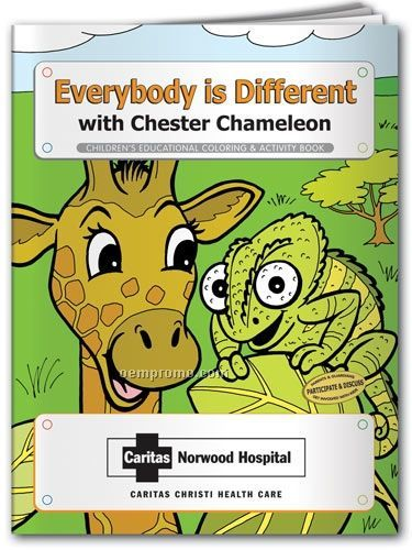 Everybody Is Different W/ Chester Chameleon Crayons & Coloring Book