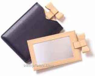 Ribbon Mirror - Bridle Leather