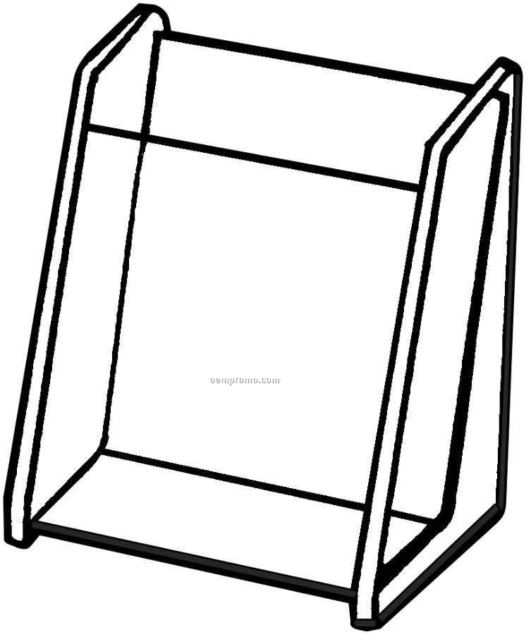"Single Counter Brochure Holder (4-1/4""X9""X1-1/2"")"