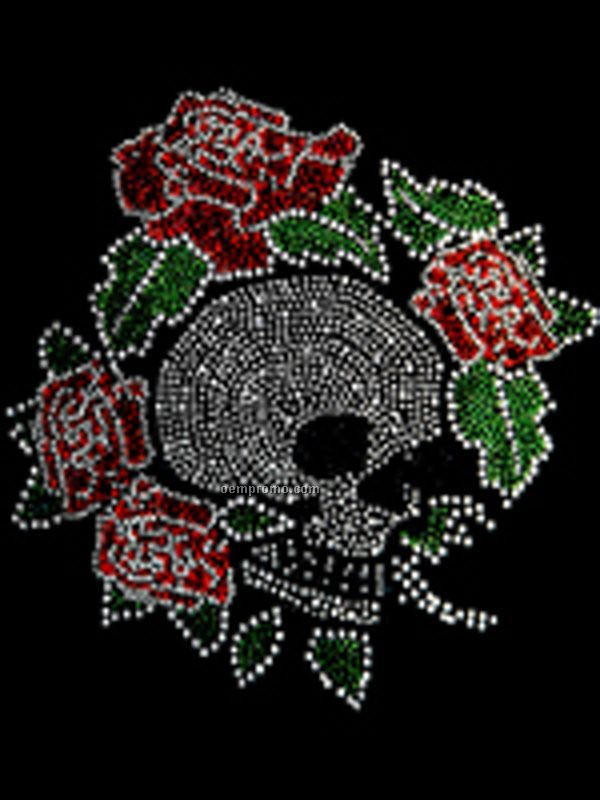Skull With Flowers Transfer