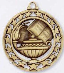 Star Border Medallions - Book & Lamp